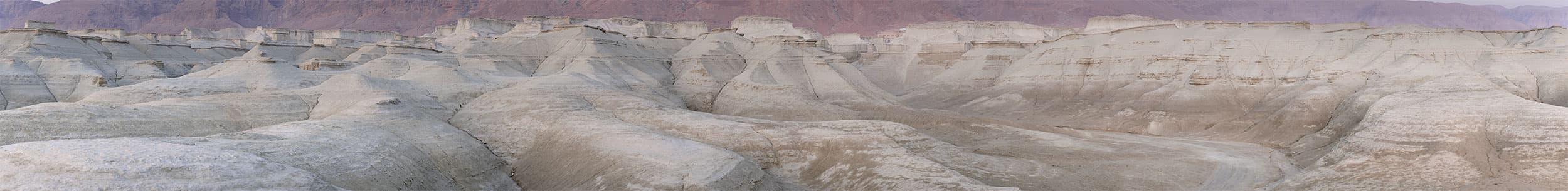 Masada with Purple Sky